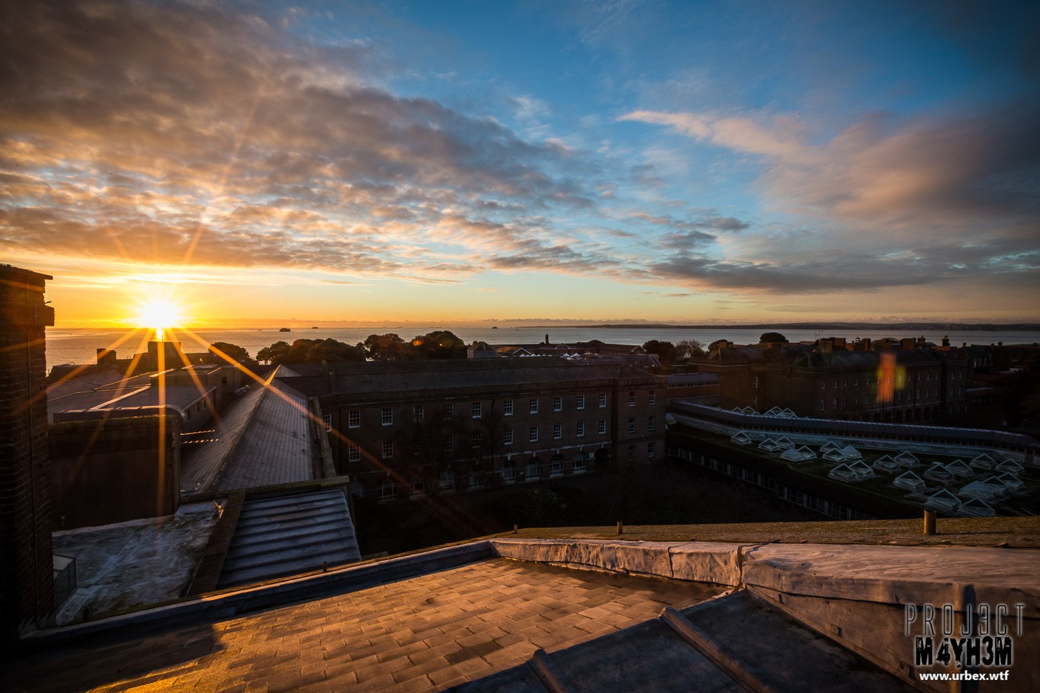 The Royal Hospital Haslar Rooftop at Sunrise