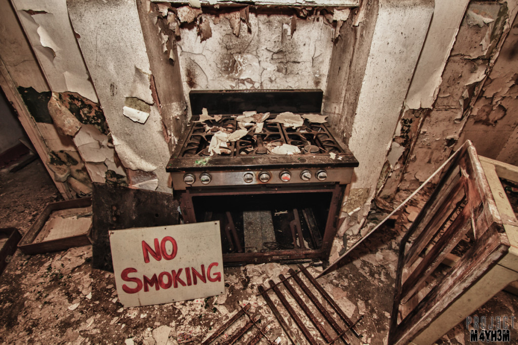 No Smoking in the Basement Kitchen - Bramham House