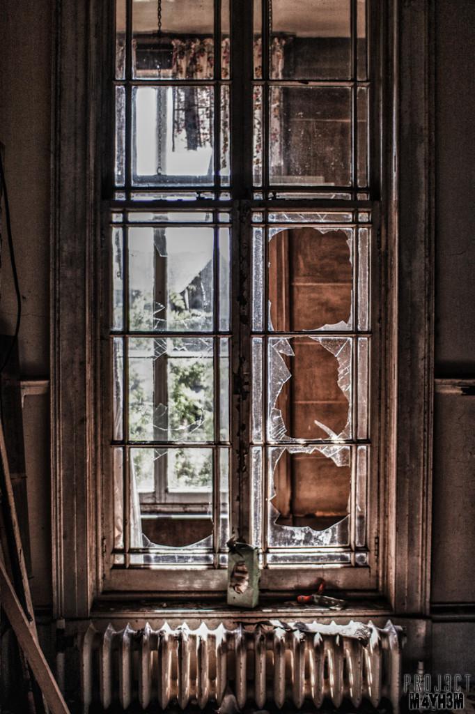 Broken Glass - Chapel Allerton Hospital
