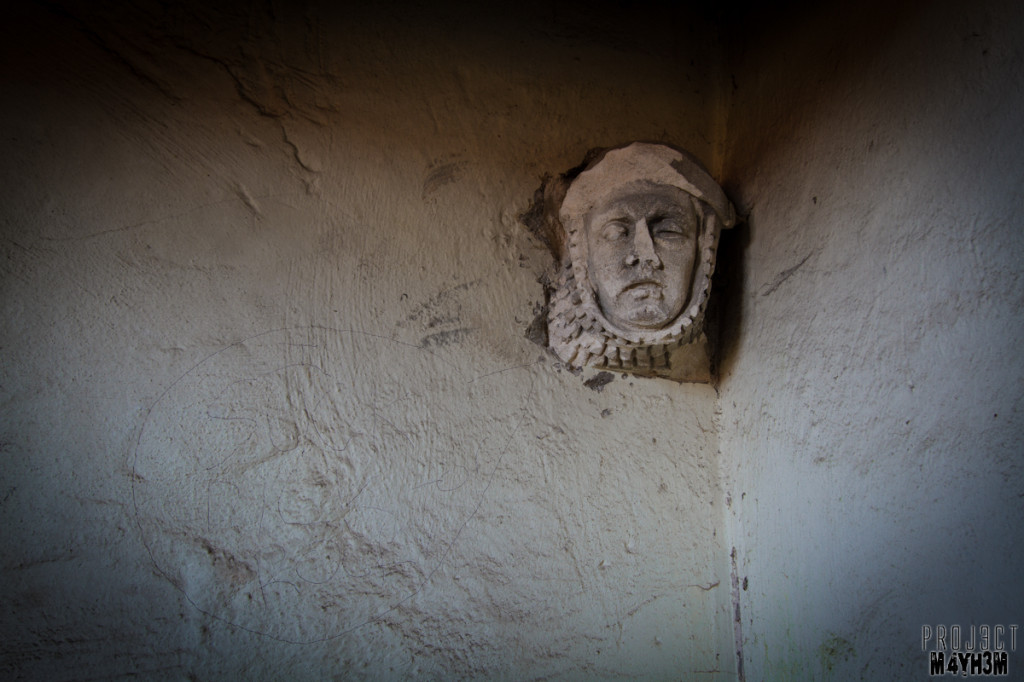 Dr X Manor House - Face in the fireplace