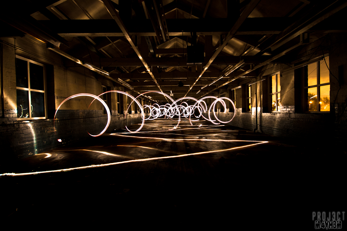 Mirfield Mill - Light painting