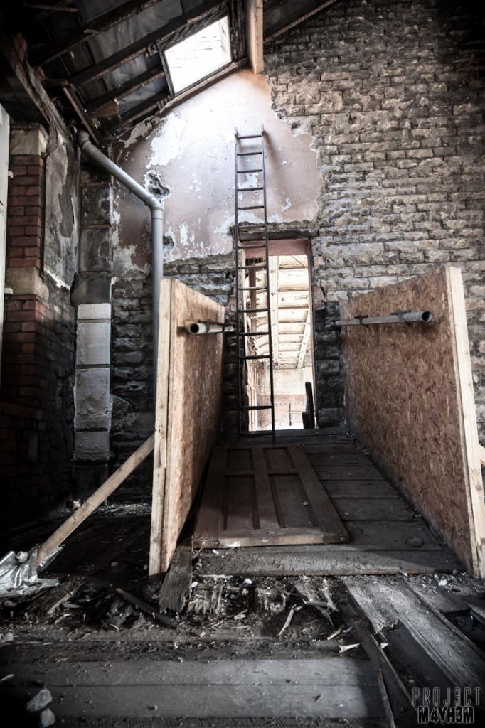 Dewsbury Pioneer House - Ladders to the roof