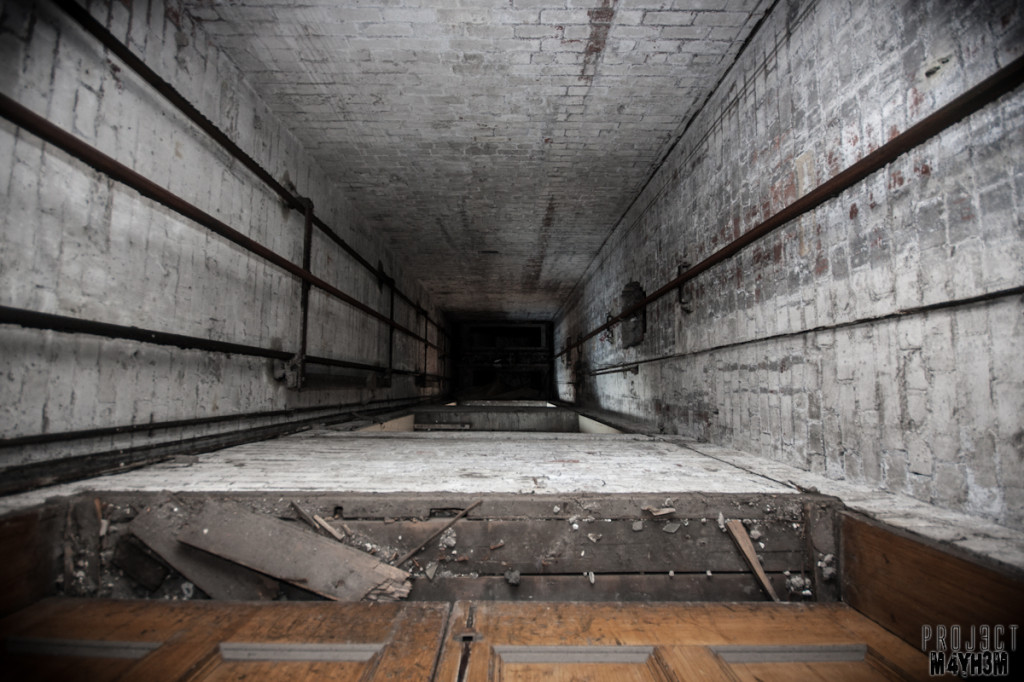 Dewsbury Pioneer House - Lift Shaft