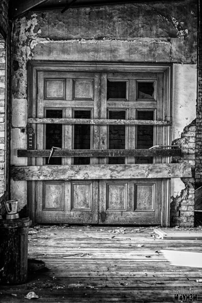 Dewsbury Pioneer House - Lift Door