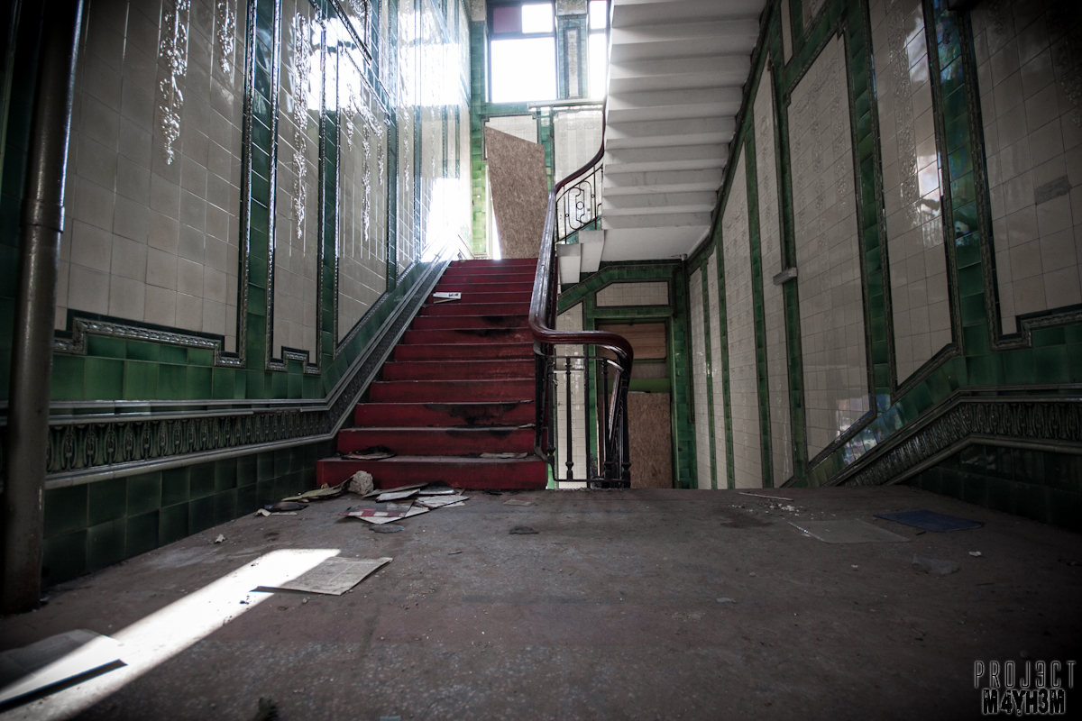 Dewsbury Pioneer House - Tiled Stairwell