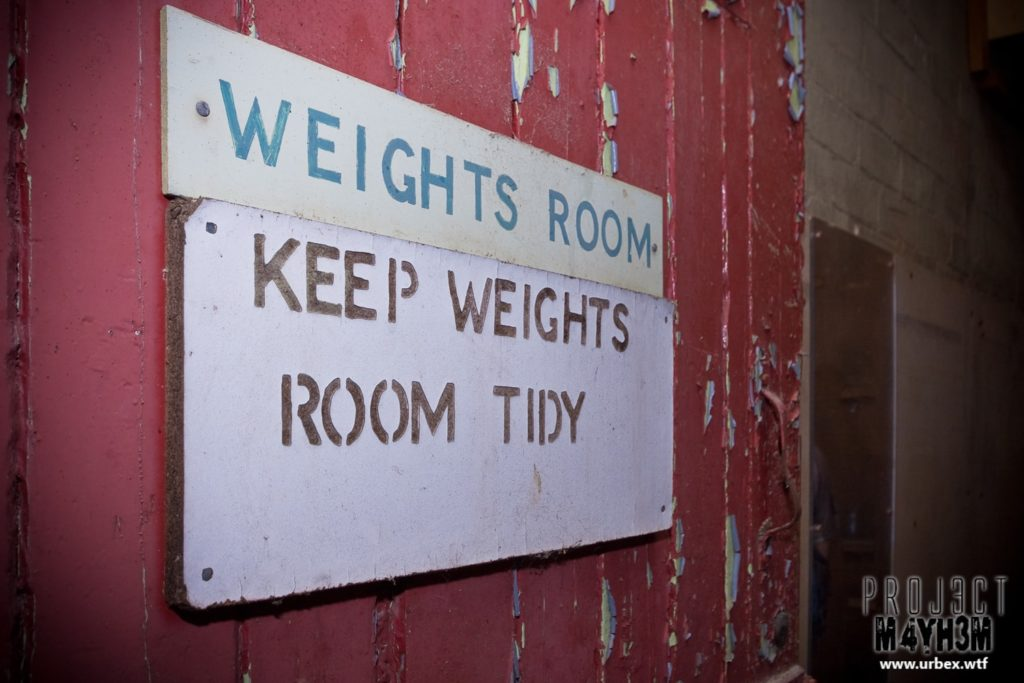 The Leeds Reformatory for Boys aka Eastmoor Approved School - Weights Room