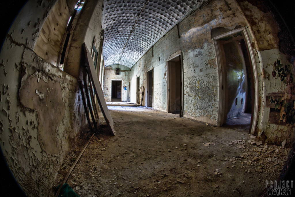 Corridor - Lincolnshire County Pauper Lunatic Asylum