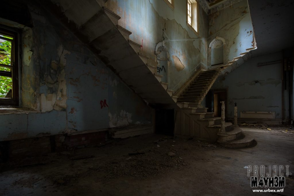 The Lincolnshire County Pauper Lunatic Asylum Main Staircase