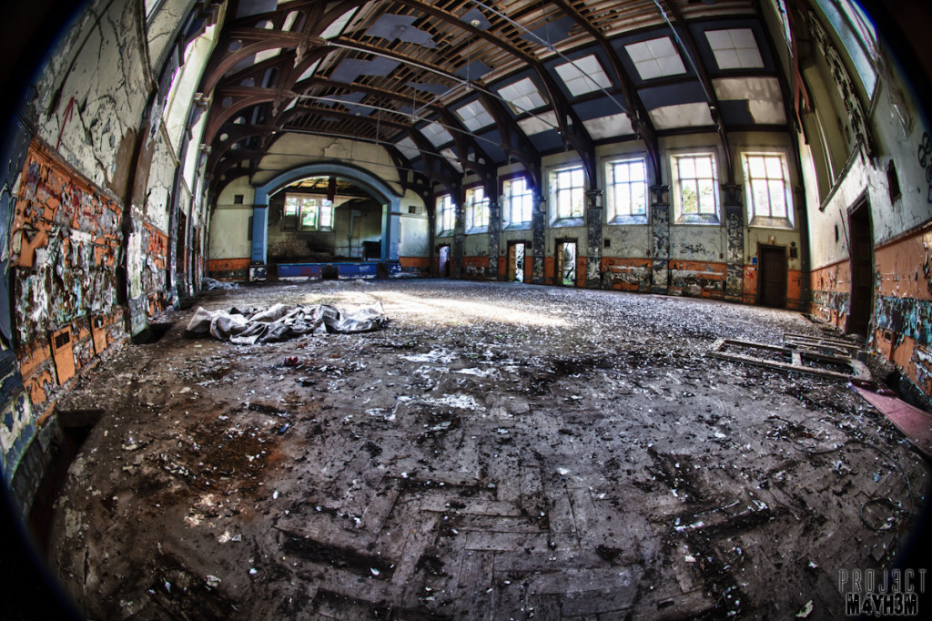 The Main Hall - Lincolnshire County Pauper Lunatic Asylum