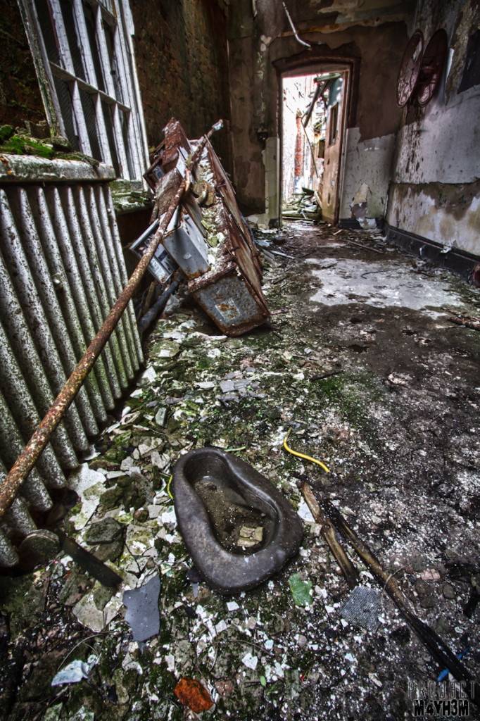 Whittingham Lunatic Asylum - Bed pan still survives!