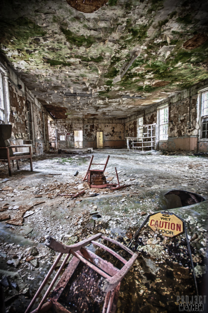 West Park Lunatic Asylum - Caution Wet Floor