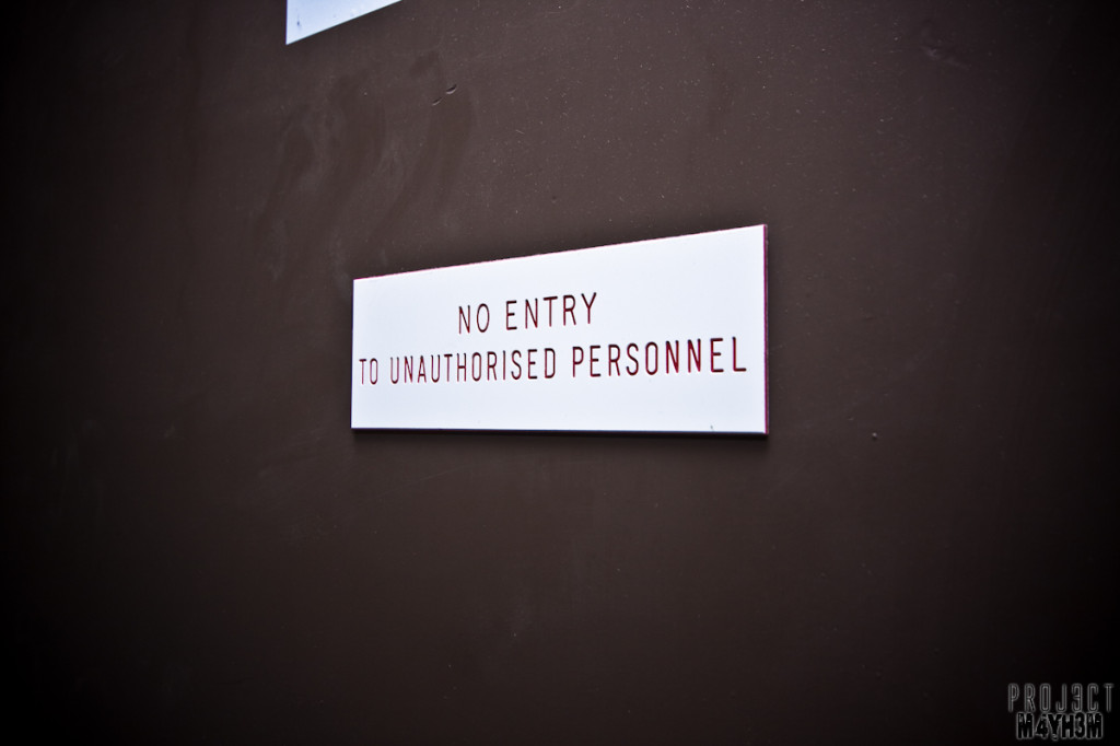 Yorkshire Bank - No Entry to Unauthorised Personnel