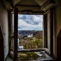 Castle Miranda aka Château Noisy - View of Castle of Vêves from an upper window