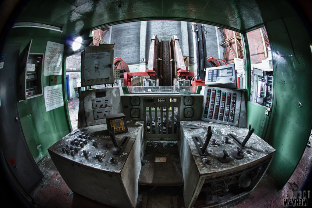 Clipstone Colliery - Winding Wheel Control Room