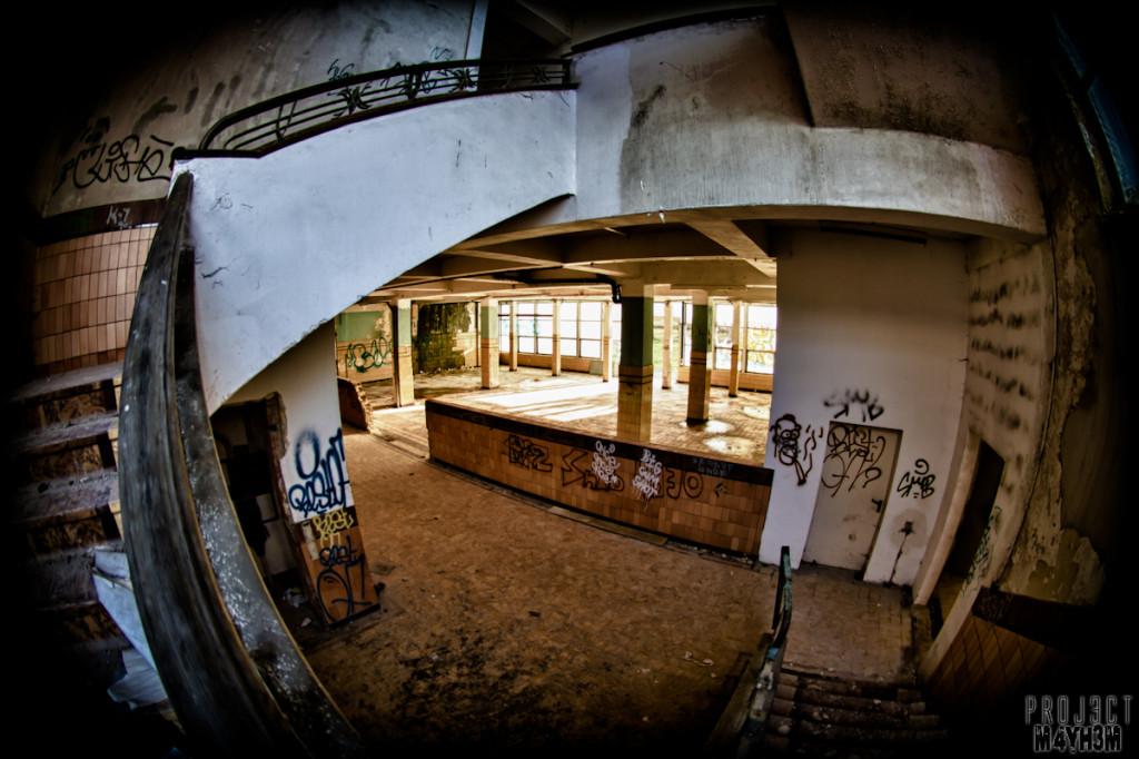Preventorium Dolhain TB Hospital - Staircase
