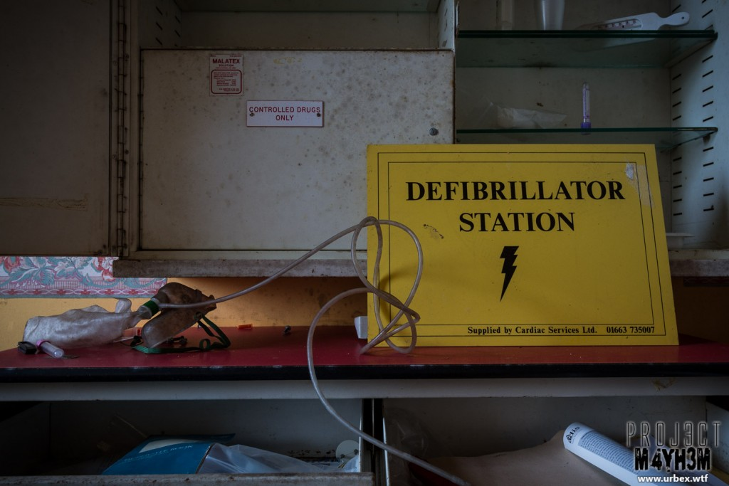 Rossendale General Hospital - Rehabilitation Unit - Defibrillation Station