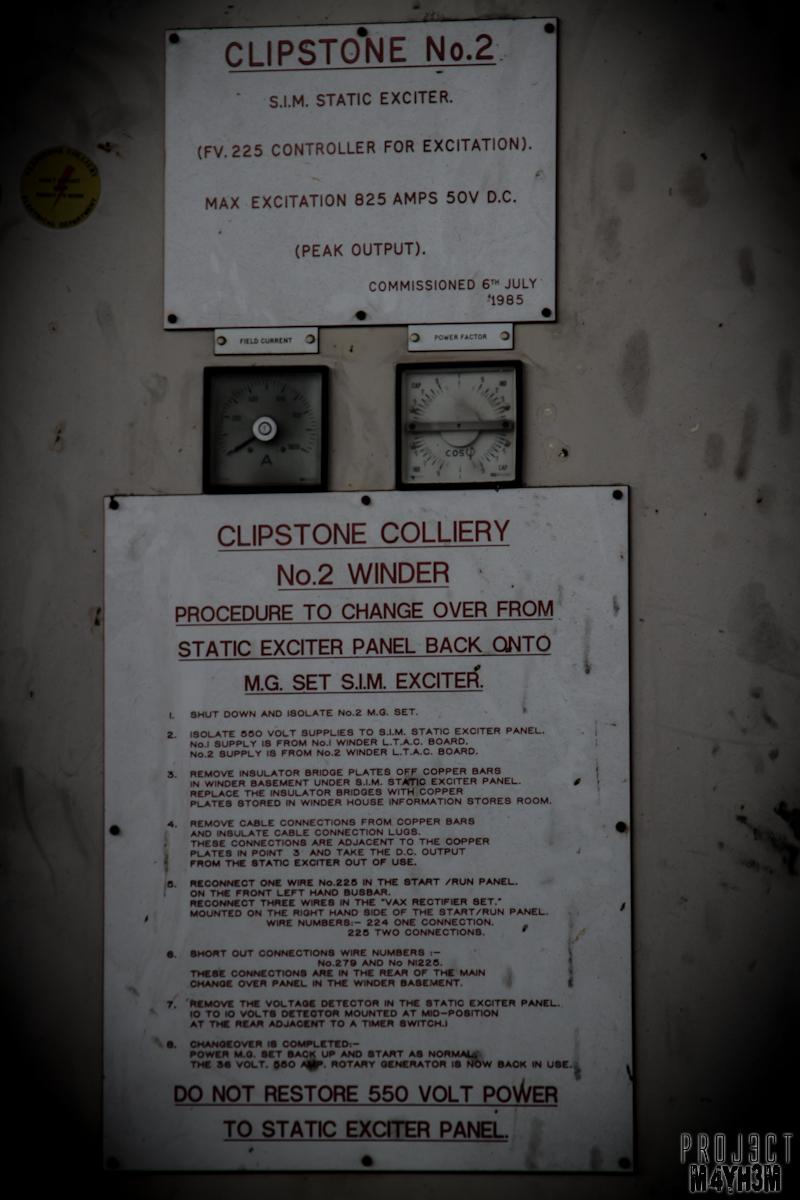 Proj3ctm4yh3m Urban Exploration Urbex Clipstone Colliery Power Relay
