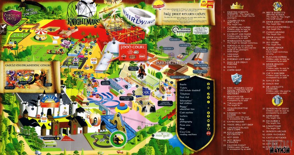 Camelot Theme Park Map