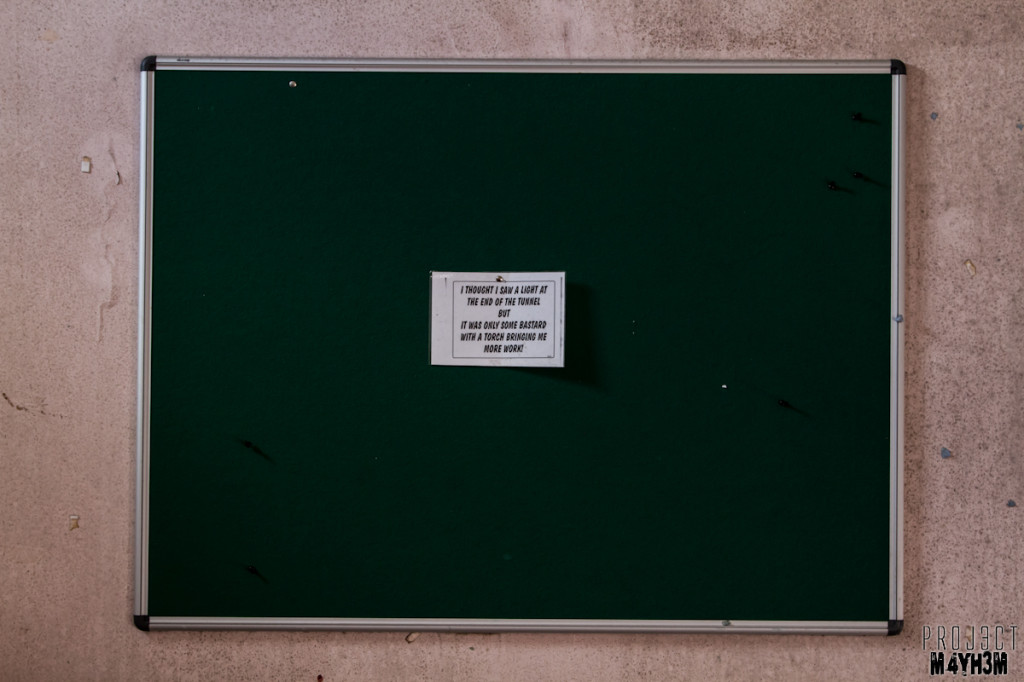 Rossendale General Hospital - Noticeboard