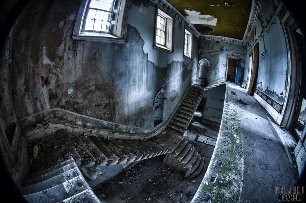 St Johns The Lincolnshire County Pauper Lunatic Asylum - The Main Staircase