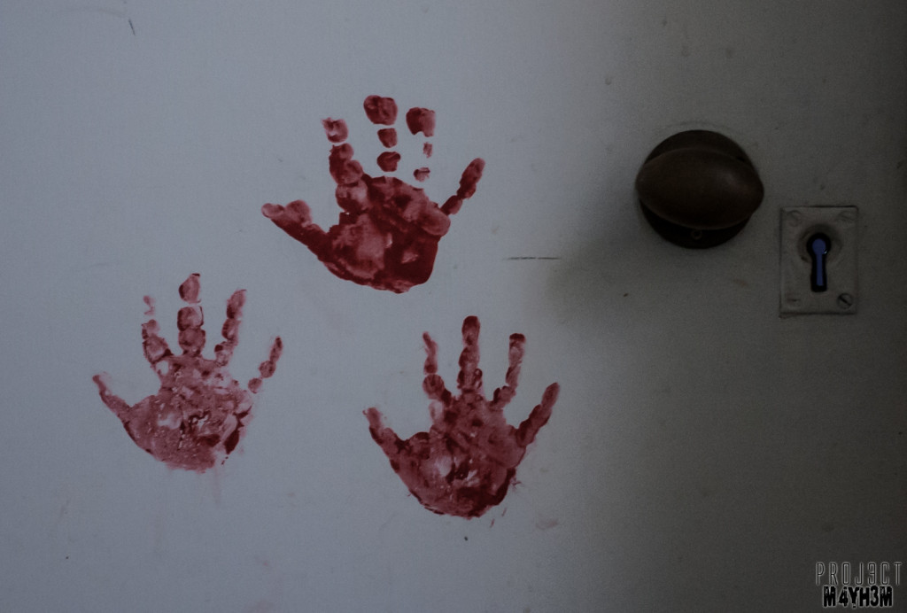 The Unseen Asylum - Bloody Hand Prints