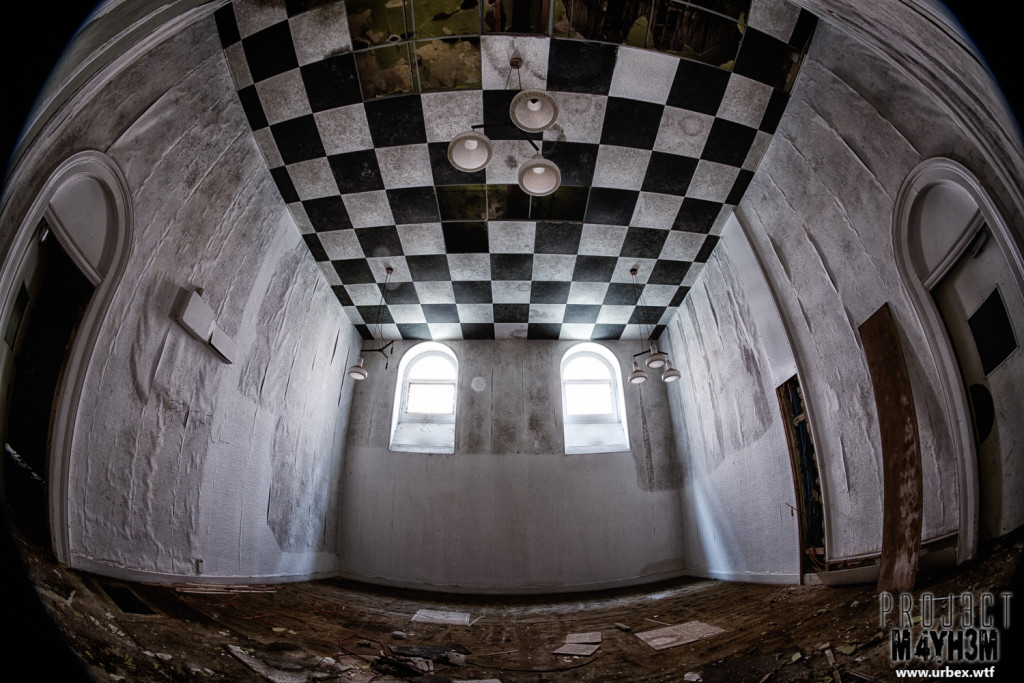 St Georges Asylum aka Northumberland County Pauper Lunatic Asylum  aka Ivy Hospital - Chequered ceiliing