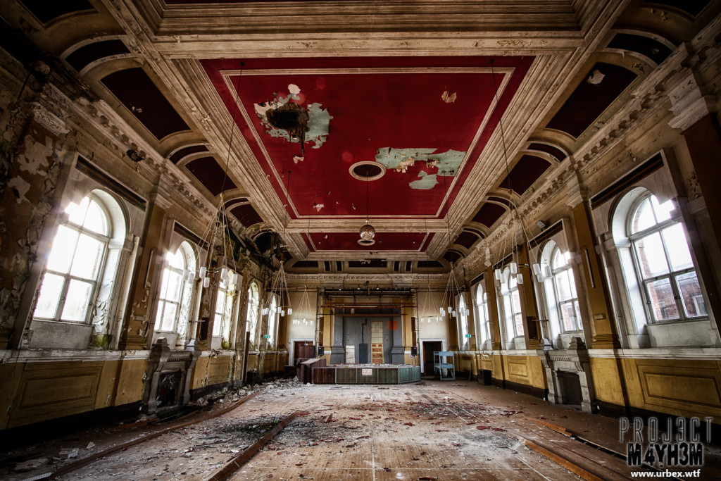 St Georges Asylum aka Northumberland County Pauper Lunatic Asylum  aka Ivy Hospital  - The Main Hall