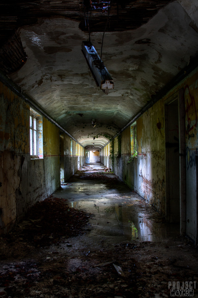 Severalls Lunatic Asylum - Reflections in the Corridor