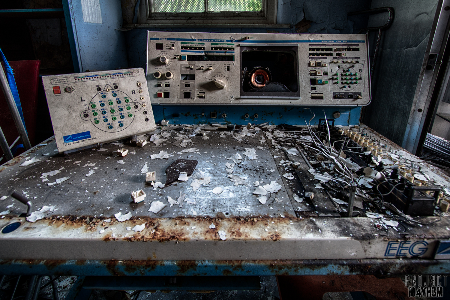 The Abandoned Whittingham Asylum - EEG Machine