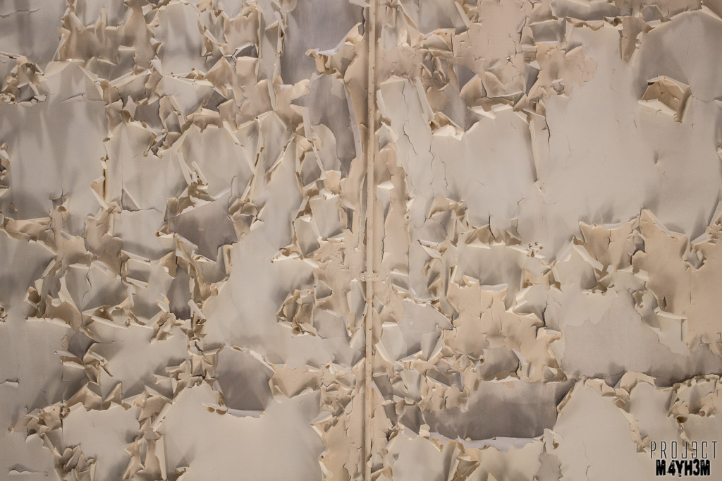 RAF Santas Grotto Peeling Paint