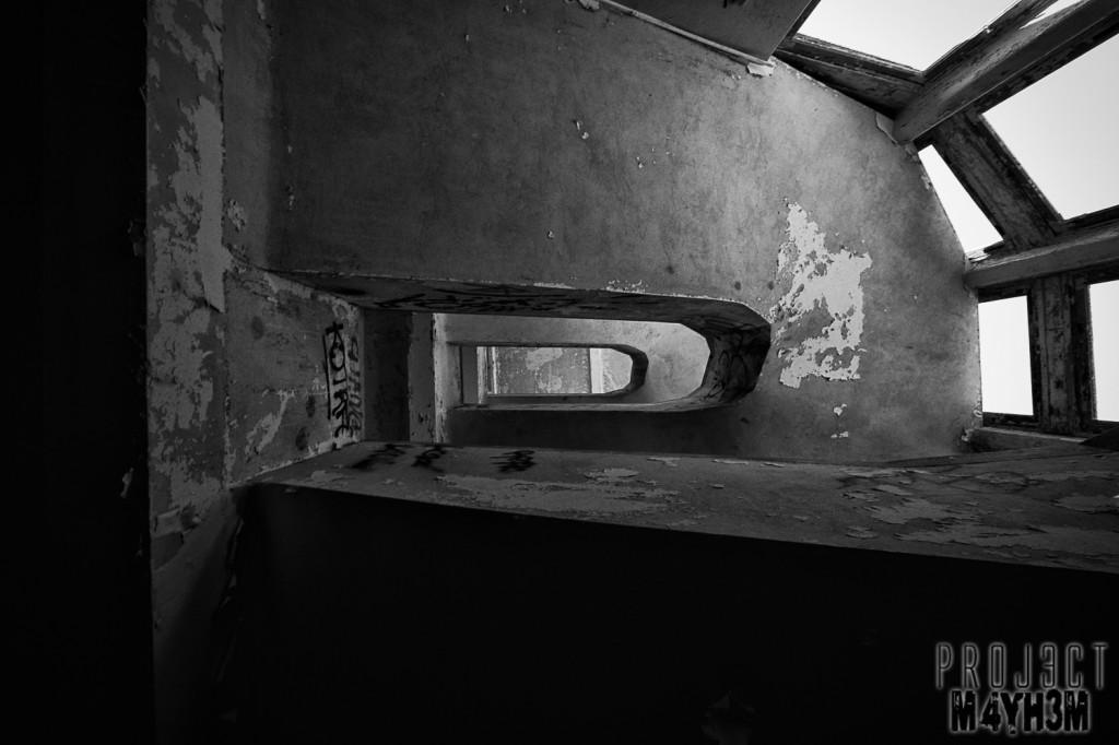 Le Sanatorium d'Aincourt, aka Fleurs de Ruine - Staircase