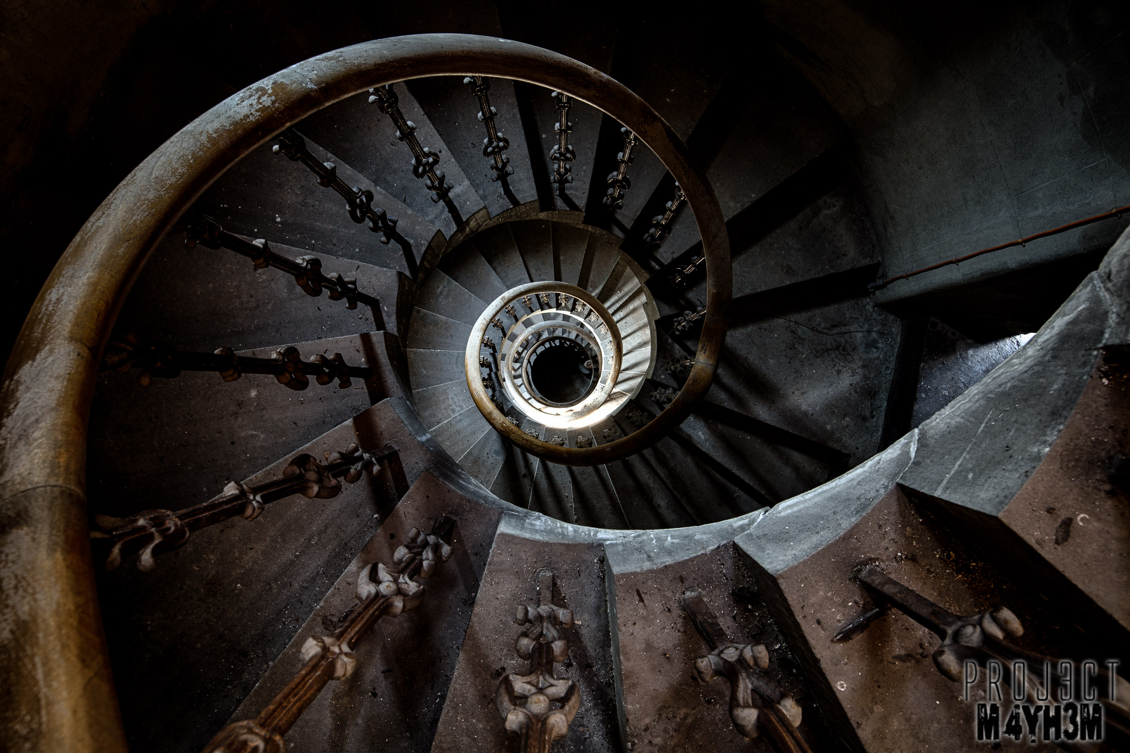 Spiral Staircases in Asylums
