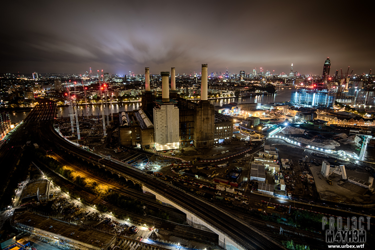 Up And Coming Areas In London >> PROJ3CTM4YH3M Urban Exploration | Urbex: London Rooftops, Battersea Power Station at night ...
