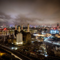 London Rooftops - Battersea Powestation at night
