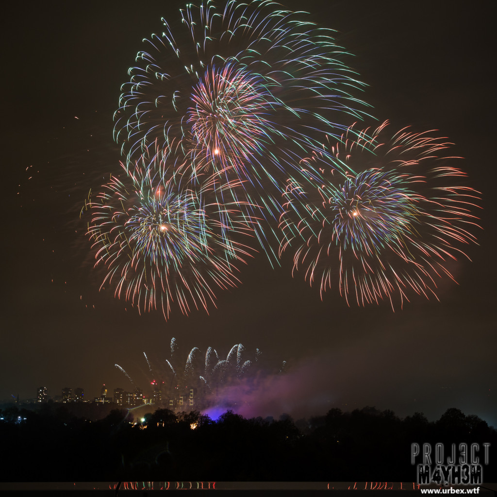 Battersea Park Rooftop Fireworks Display