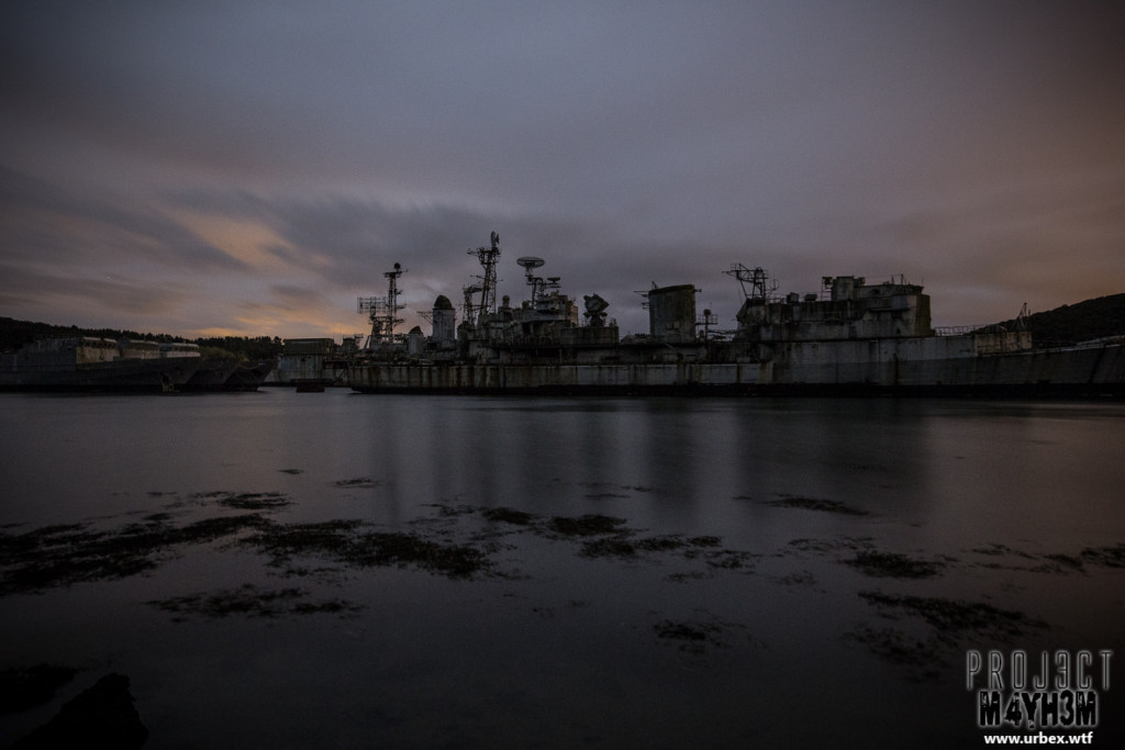The Atlantic Ghost Fleet at Night