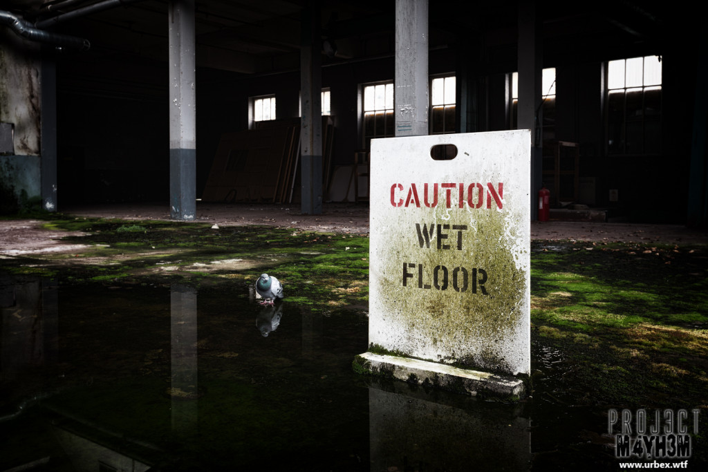 Robert Fletchers & Sons Ltd Paper Mill - Caution Wet Floor