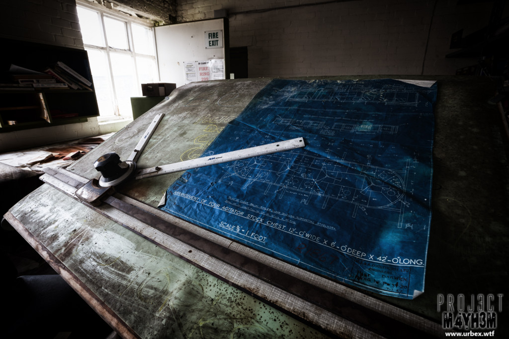 Robert Fletchers & Sons Ltd Paper Mill - Blue Prints on the Drawing Board