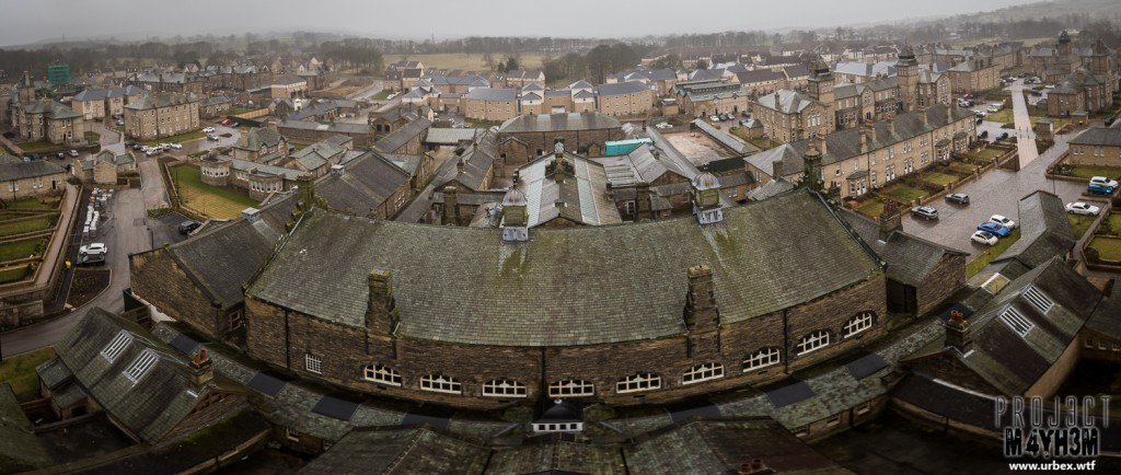 High Royds Insane Asylum - Clock Tower Panoramic
