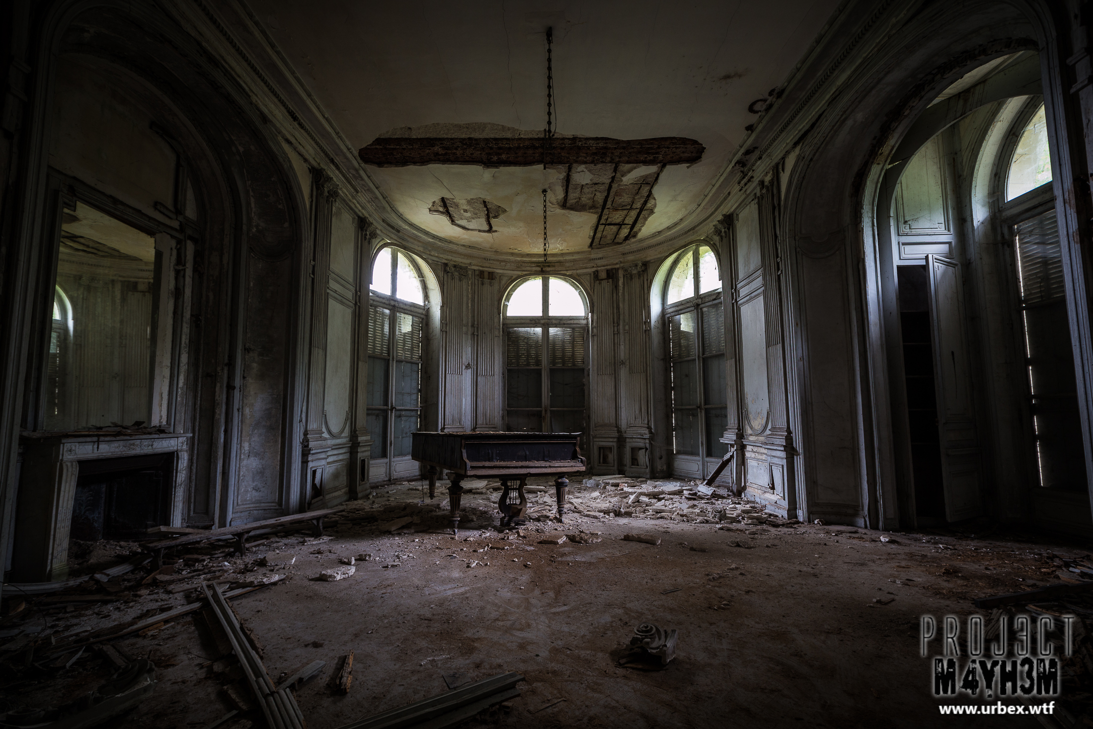 A decaying French Château