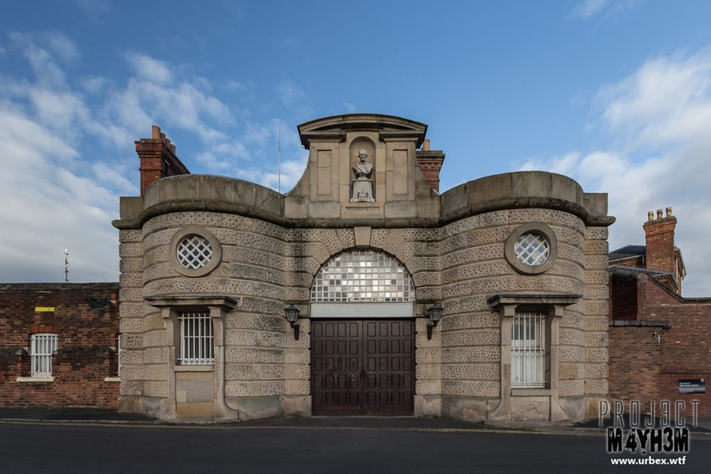 HM Prison Shrewsbury aka The Dana - The Main Entrance