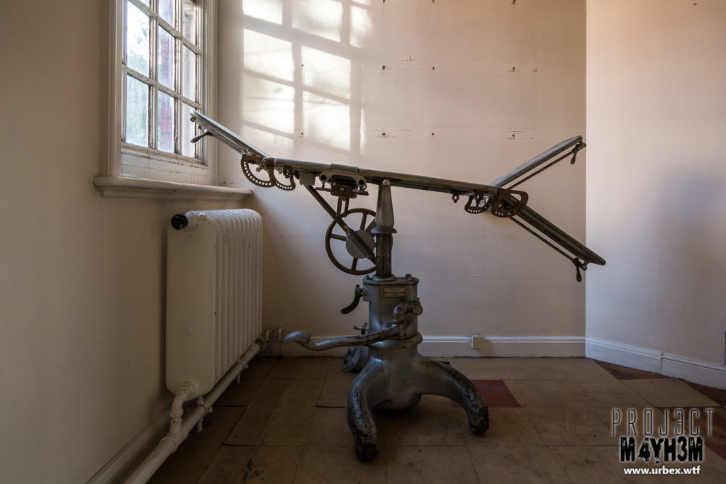 St Cadoc's Mental Hospital - Operating Theatre Bed
