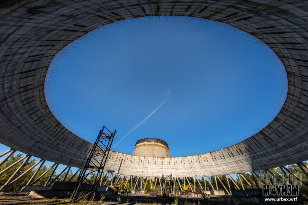 The Chernobyl Nuclear Power Plant - Cooling towers for reactors
