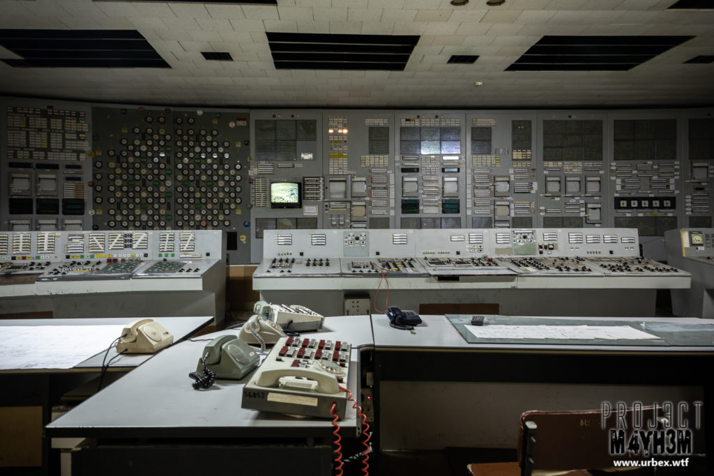 The Vladimir Ilyich Lenin Nuclear Power Plant aka The Chernobyl Nuclear Power Plant - Reactor 1 Control Room